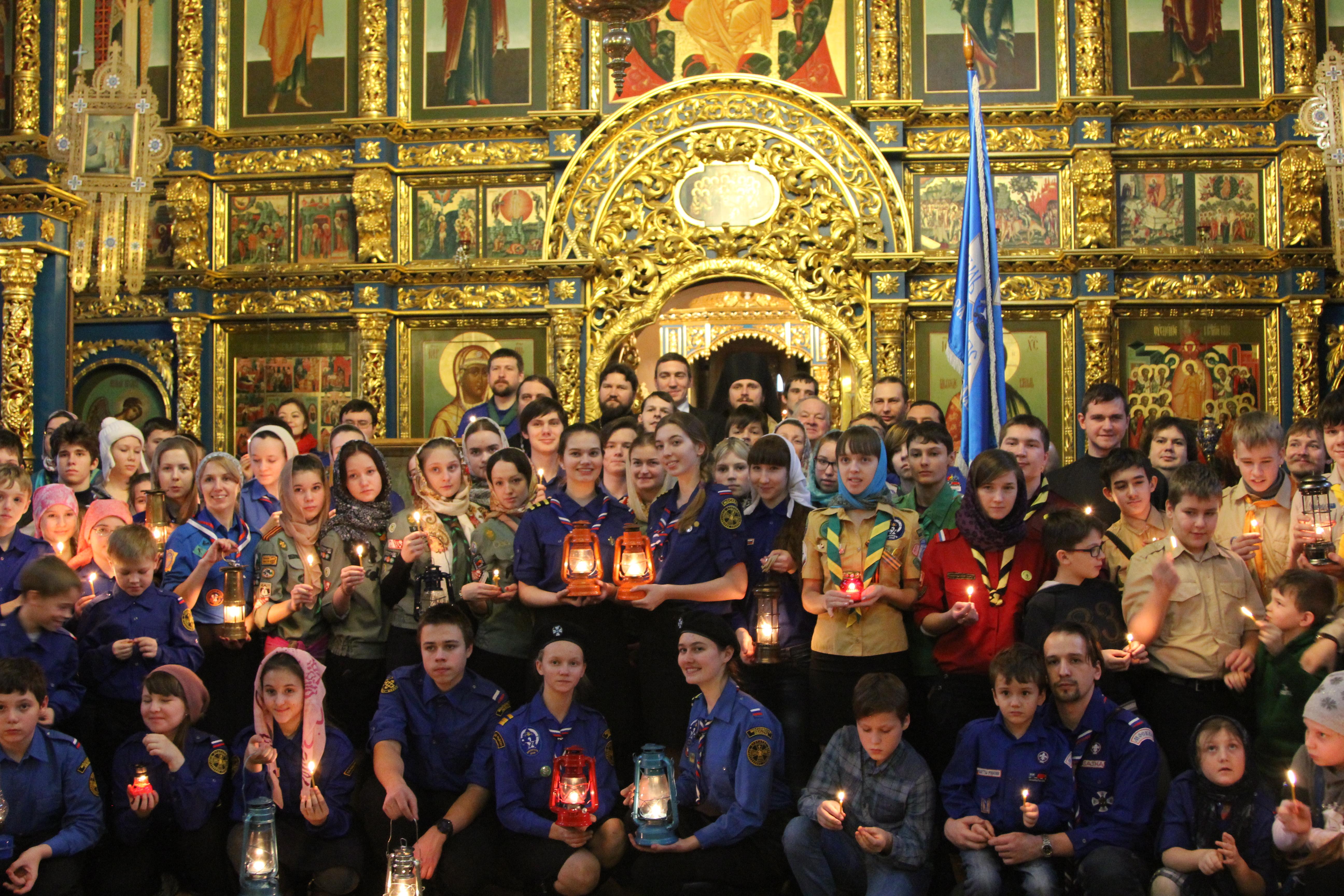Вифлеемский огонь прибыл в Москву