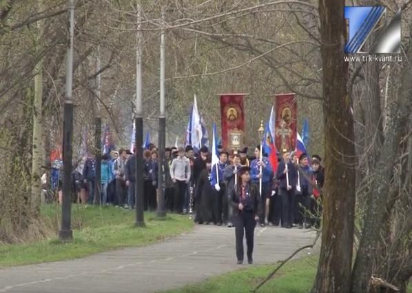 В Междуреченске состоялся Георгиевский парад
