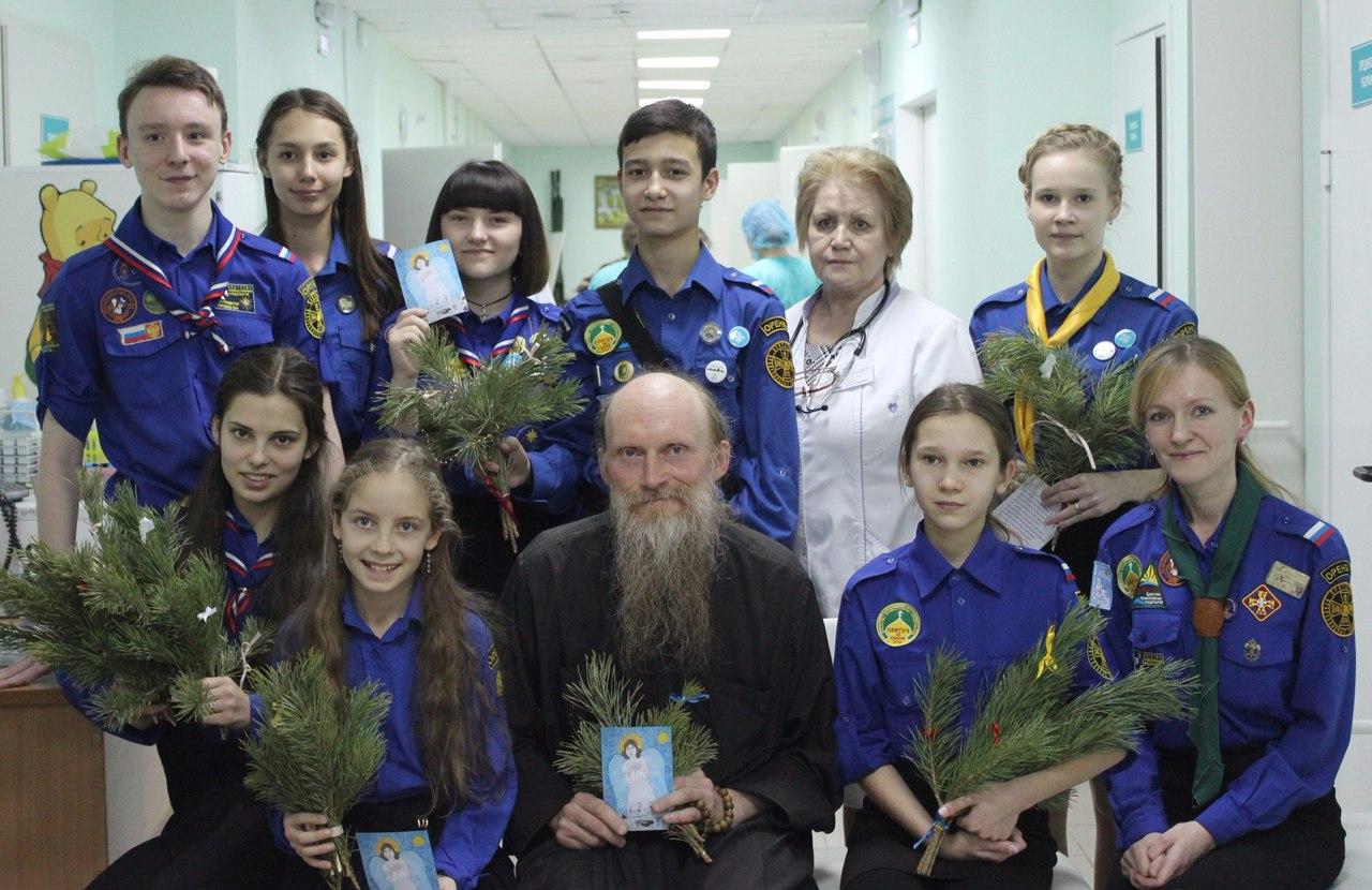 Троицкий отряд Оренбургского отделения БПС поздравил с Рождеством пациентов больницы