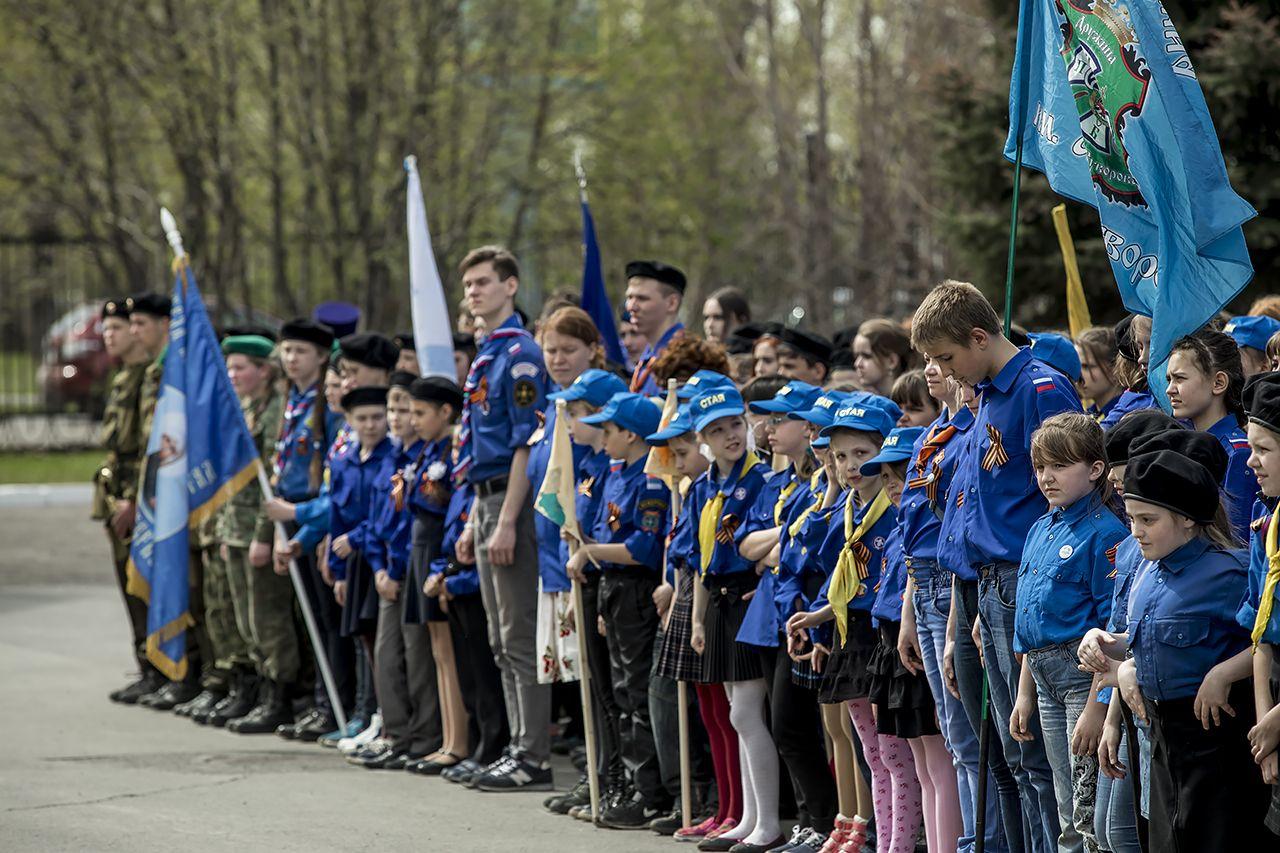 В Кемерово состоялся Георгиевский парад