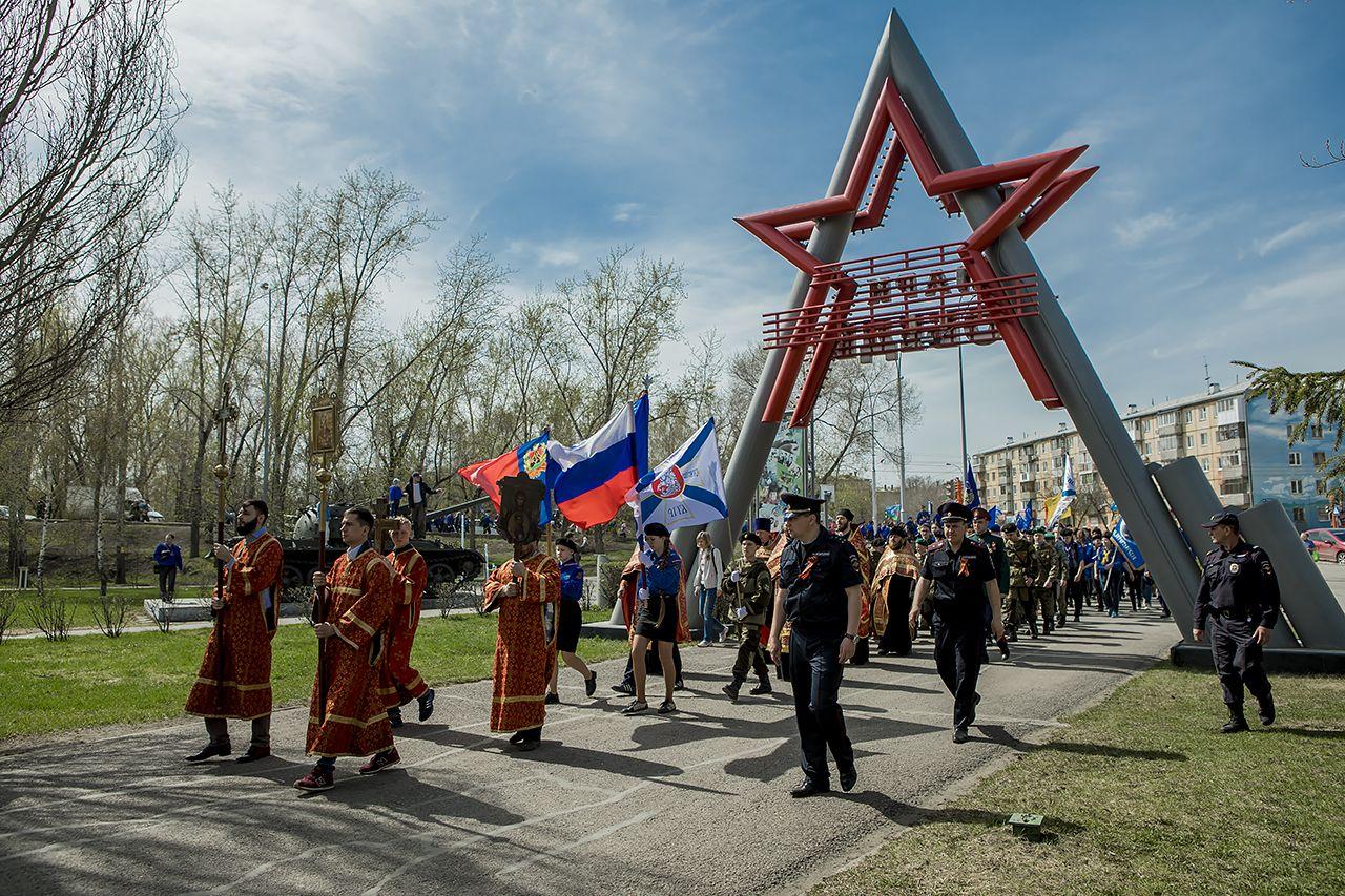 Георгиевский парад в Кемерово - впечатления следопытов из областных и районных отрядов Кемеровской области