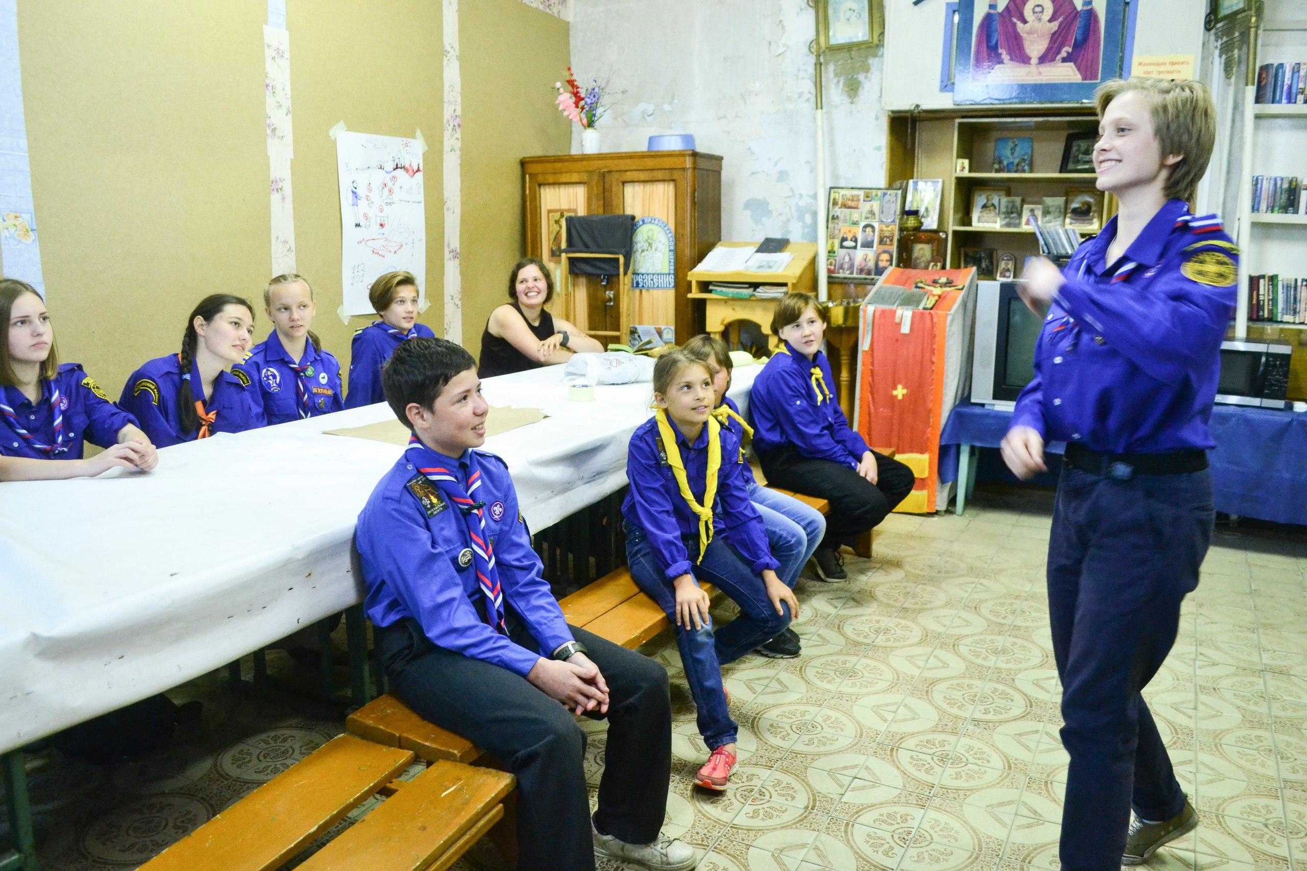 Следопыты Талдомского района провели занятия по технике пожарной безопасности в лесу