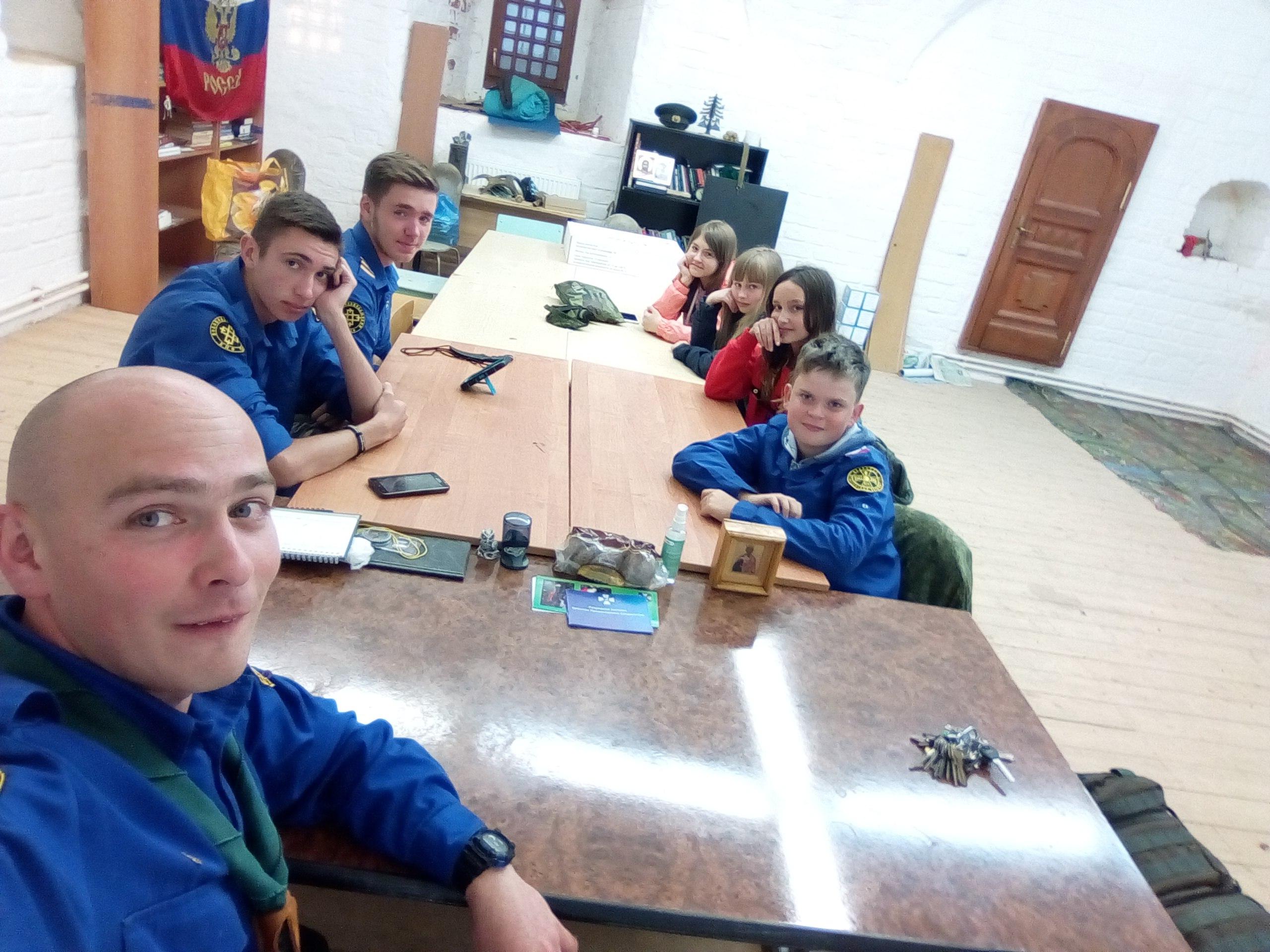 Сбор следопытов Волоколамского отделения БПС