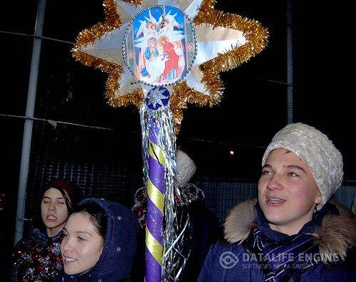 Следопыты Кореновского отделения БПС поздравили жителей города с Рождеством Христовым