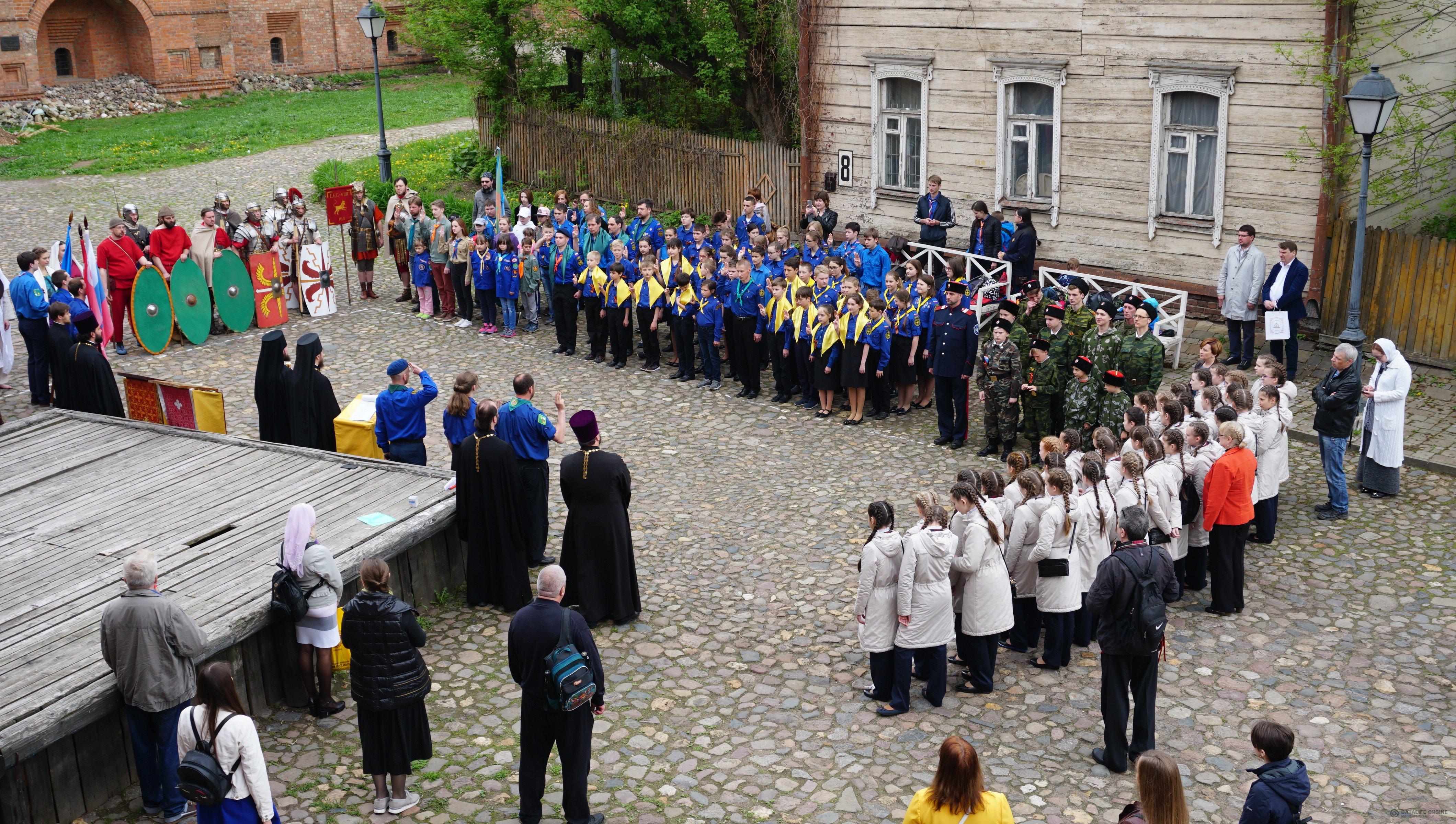 На Крутицком подворье в Москве состоялся Георгиевский парад