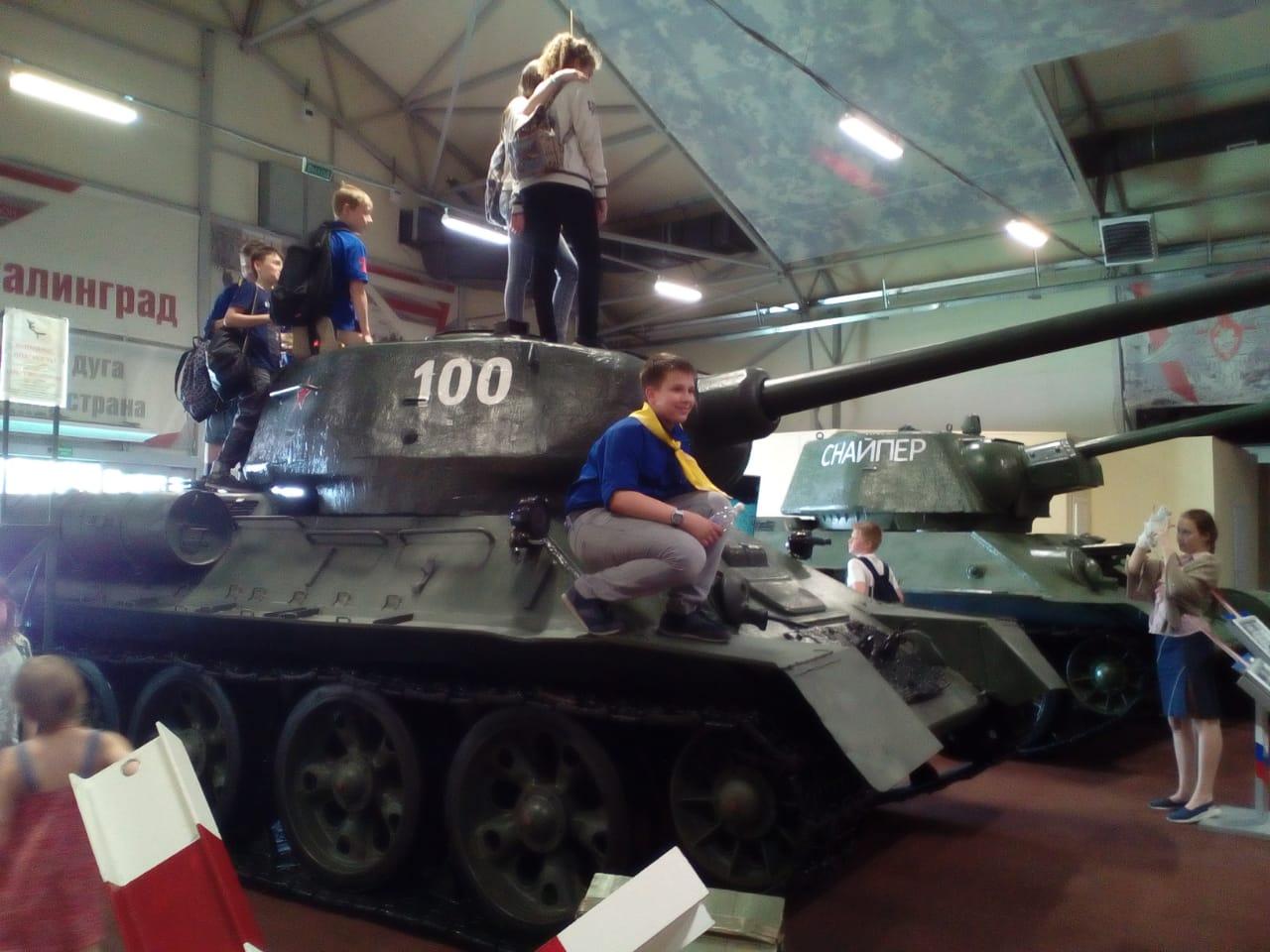 Следопыты Московского отделения БПС посетили военно-патриотический парк культуры и отдыха Вооружённых сил Российской Федерации «Патриот»